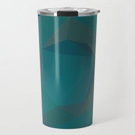 Teal Blue Geometric - Abstract Art by Fluid Nature Travel Mug