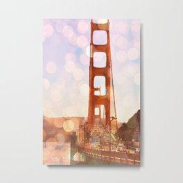 GOLDEN GATE BRIDGE - ABSTRACT Metal Print