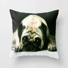 PUG POWER OUTAGE Throw Pillow