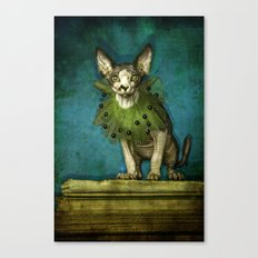 Green collar Canvas Print