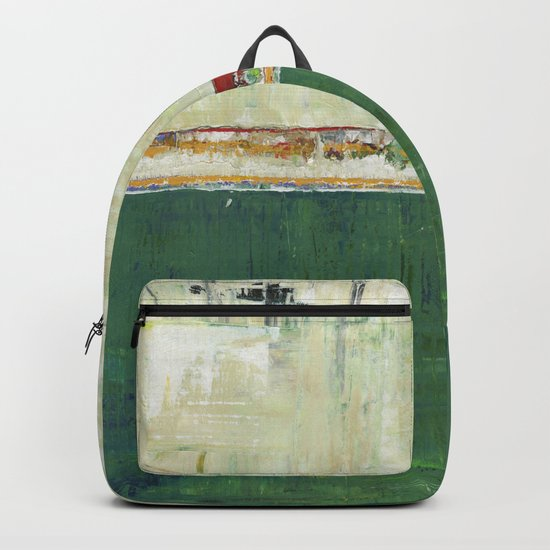 Limerick Irish Ireland Abstract Green Modern Art Landscape Backpack