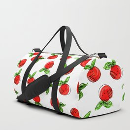 Watercolor tangerine white #homedecor #spring #fruit #watercolor Duffle Bag