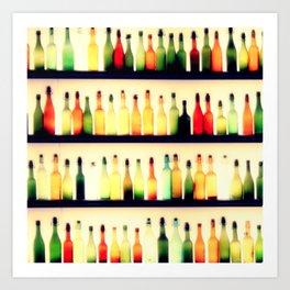 Bottles of Melody Art Print