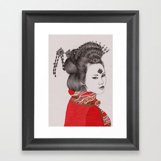Paper Doll III Framed Art Print
