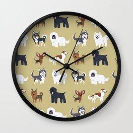 RUSSIAN DOGS Wall Clock