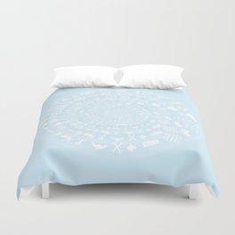 Snow & Ice Love Symbol Mandala Duvet Cover