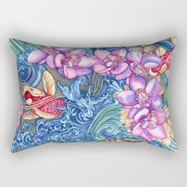 Orchid Splash Rectangular Pillow