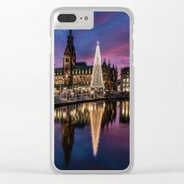 Hamburg Christmas Market Clear iPhone Case