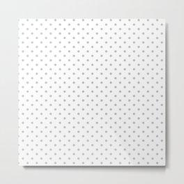 Dots (Silver/White) Metal Print