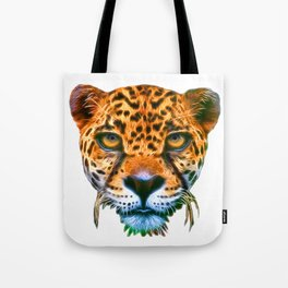 illustration leopard/T-shirt graphics/abstract watercolor like leopard/leopard graphics on a white b Tote Bag