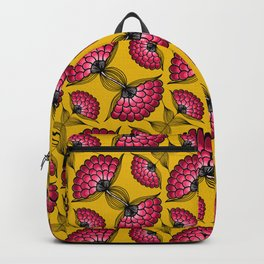 African Floral Motif Backpack