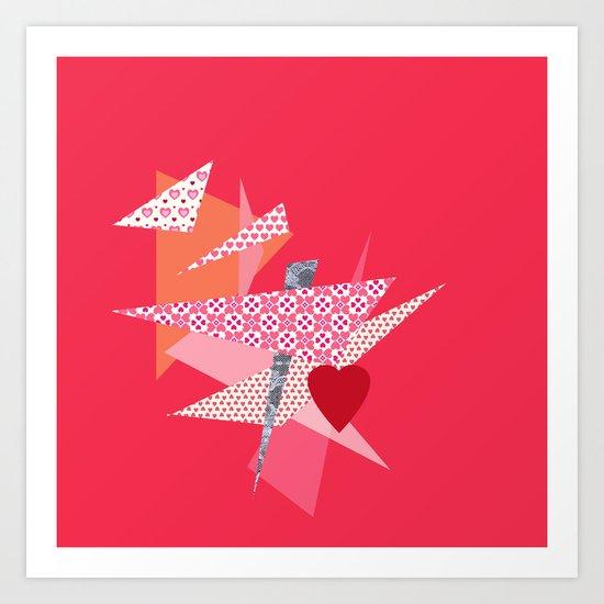 Valentines Abstract Art Print