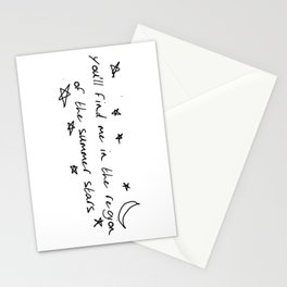 you'll find me in the region of the summer stars (liam) Stationery Cards