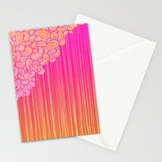 The Unraveling of Paisley Lace (in ombre pink and gold) Stationery Cards