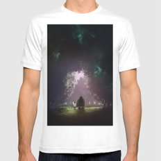 Feel Lonesome White MEDIUM Mens Fitted Tee