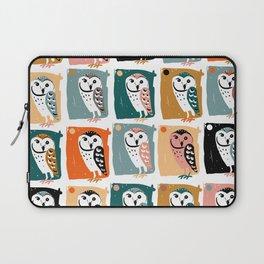 Barn Owl pattern Laptop Sleeve