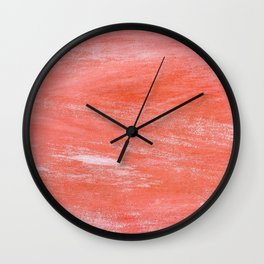 Salmon Paint (Color) Wall Clock