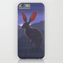 Black-tailed Jackrabbit iPhone Case