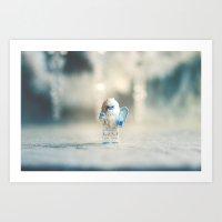 yeti Art Prints featuring Yeti by Sara Rainsdon