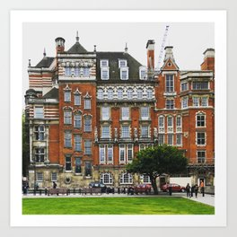 London Brick Building with Staggered Windows Art Print