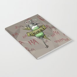 Injecting Humor Tattoo Notebook