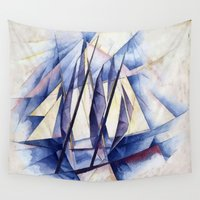 sail Wall Tapestries featuring Sail Movements by taiche