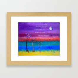 """""""Monet's Moon Rise"""" with poem: """"Moment For Friends"""" Framed Art Print"""