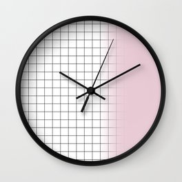 square and pink Wall Clock