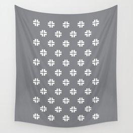 Scandinavian / Light Grey + White Wall Tapestry
