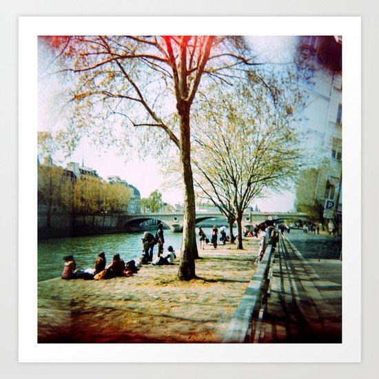 Paris in the Spring Time Art Print
