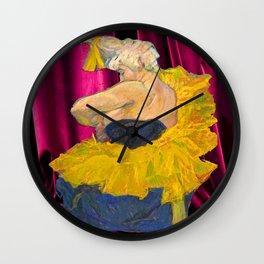 toulouse bohemian clawn Wall Clock