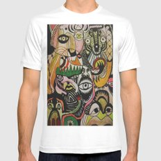 jungle boogie Mens Fitted Tee White MEDIUM