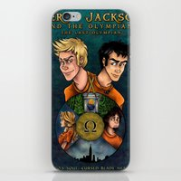 percy jackson iPhone & iPod Skins featuring Percy Jackson and the Olympians, The Last Olympian by Yuri Meister