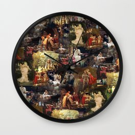 Arthurian Romances Wall Clock