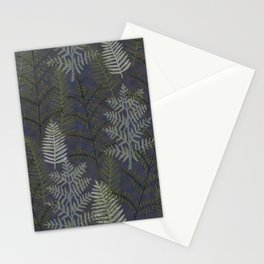 Ferns Purple Blue Stationery Cards