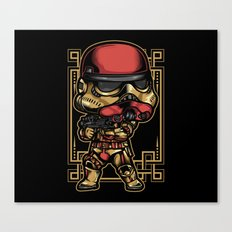 Storm Trooper Bubble Head Canvas Print