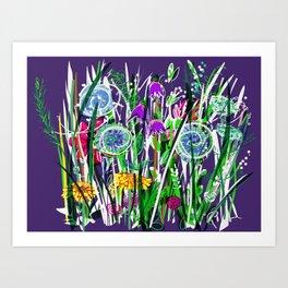 violet meadow Art Print