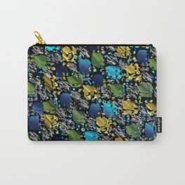elegant modern pattern with dots circling shiny colored chick glittery Carry-All Pouch
