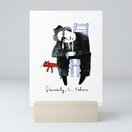 Sincerely, L. Cohen Mini Art Print