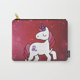 Leo Unicorn Zodiac Carry-All Pouch