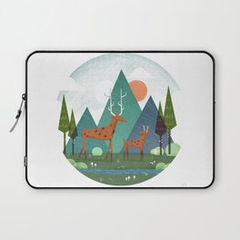 Deer and son Laptop Sleeve