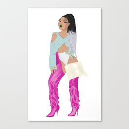 Leigh 'power' music video - pink vetements boots 1/3 Canvas Print