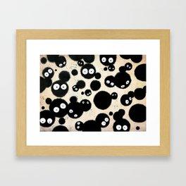 Cute Susuwatari Infestation Framed Art Print