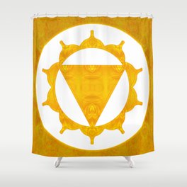 Energy Center Abstract Chakra Artwork Shower Curtain