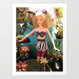 Jungle Barbie Art Print