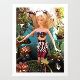 Jungle Barbie Art Print