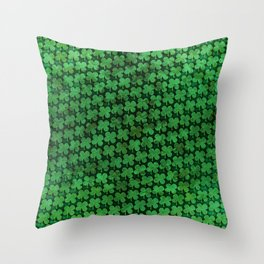Four Leaf Pattern Throw Pillow