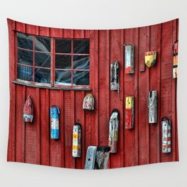 Red Wall Buoy Wall Tapestry