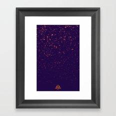Trail Status / Purple Framed Art Print