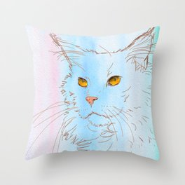 Magnificent Maine Coon Throw Pillow